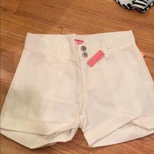 Brand new girls white shorts